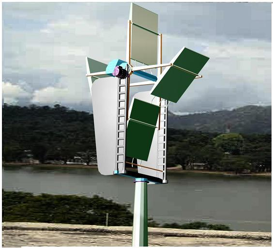 Lateral axis wind turbine