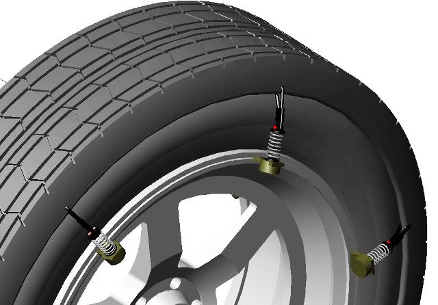 Wheel with outer tire